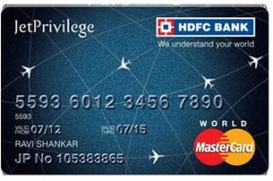 Types of credit cards in hdfc bank jet privilege hdfc bank card reheart Images