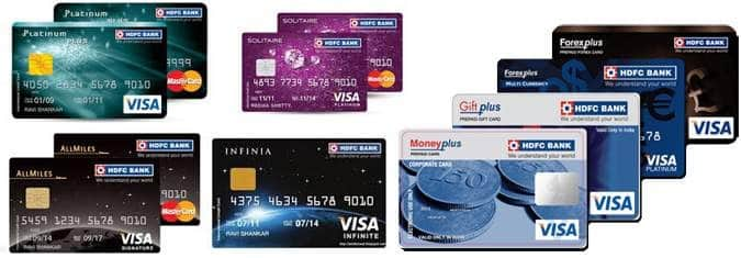 types hdfc credit cards