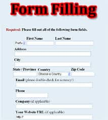 Form Filling job
