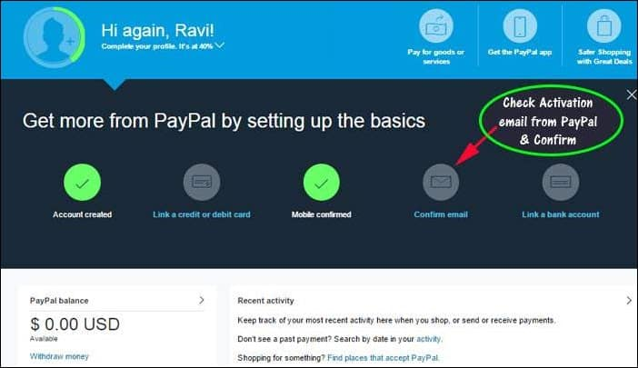 PayPal India - Create & Verify PayPal Account in India?