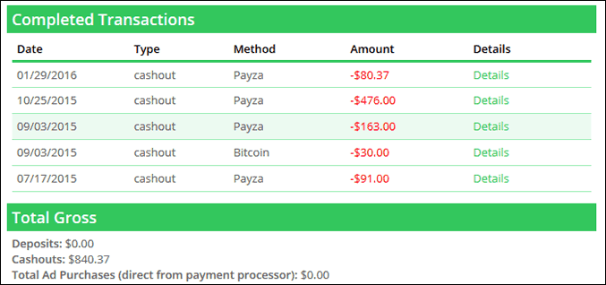 paidverts payment