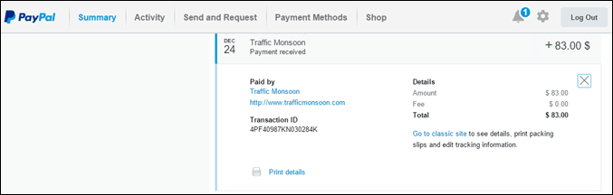 paypal tm payment