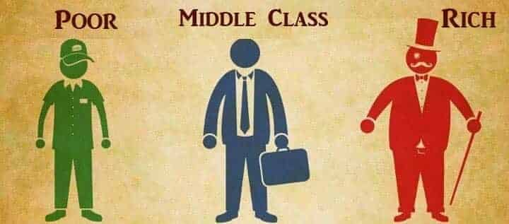 poor rich & middle class