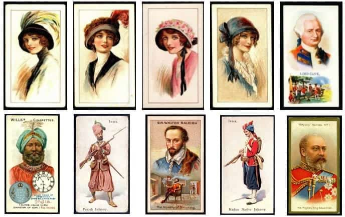 Cigarette cards labels