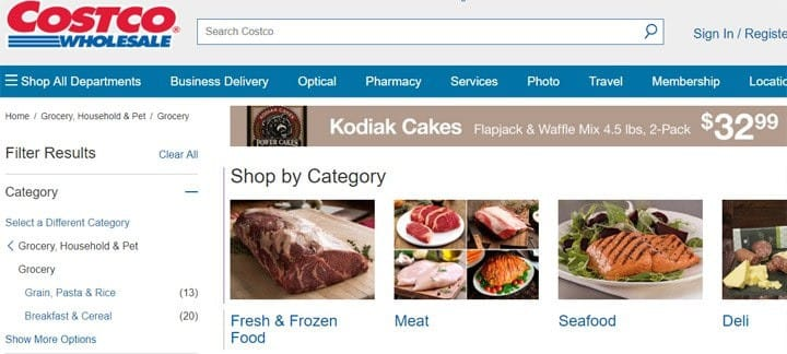 costco online grocery