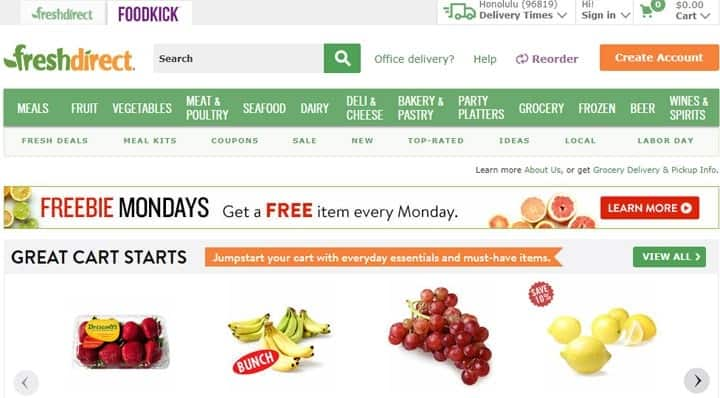 freshdirect online grocery