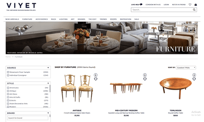 Viyet Is Ideal If You Are Selling Used Furniture And Home Décor Items Worth  US$ 1,000 Or Above. Viyet Allows You To Sell Used Furniture From Reputed  Brands ...