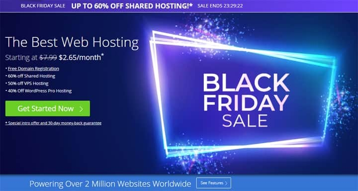 black friday bluehost deals
