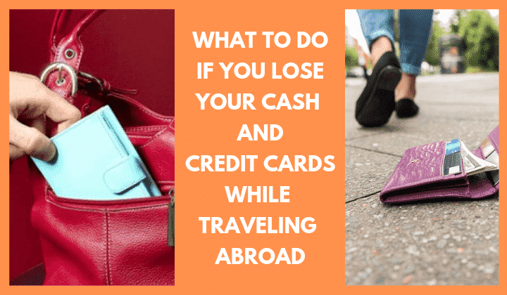 when lost cash abroad