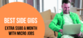 Looking for Side Gigs – 12 Best Micro Jobs to Make an Extra $500 a Month