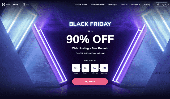 Hostinger Black Friday Hosting Deal