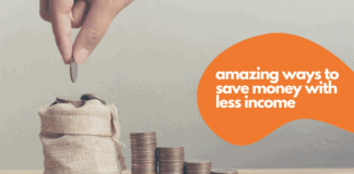 save money with less income